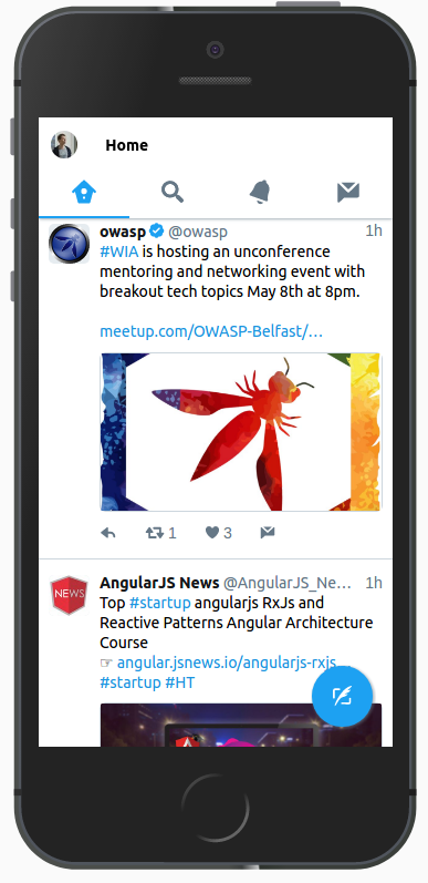Twitter in mobile